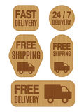 Free Shipping and Free Delivery Labels Royalty Free Stock Photography