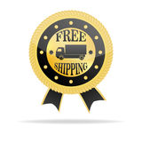 Free Shipping Golden Badge Stock Photography