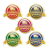 Free Shipping 5 Golden Buttons Royalty Free Stock Images