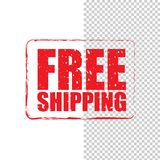 Free shipping grunge red stamp Stock Photography