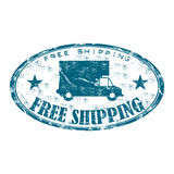 Free shipping grunge rubber stamp Royalty Free Stock Photos