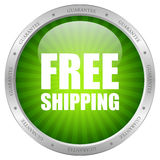 Free shipping icon. Vector green free shipping icon Royalty Free Stock Image