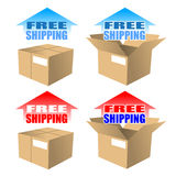 A Free Shipping Icon. In different, Vector Art Royalty Free Stock Image