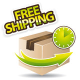 Free shipping icon Royalty Free Stock Photos