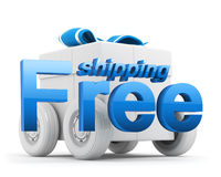 Free shipping icon - gift box - blue Royalty Free Stock Images