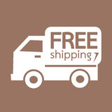 Free shipping icon symbol Illustration design Royalty Free Stock Images
