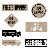 Free shipping icons. Set of seven free shipping icons isolated on white background.EPS file available vector illustration