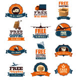 Free Shipping Icons Stock Photo
