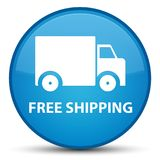 Free shipping special cyan blue round button Stock Photos