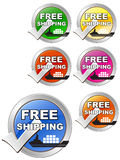 Free Shipping Label Stock Photo