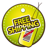 Free shipping label Stock Photos