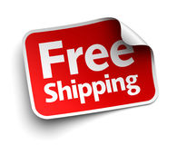 Free shipping label concept illustration Stock Photo