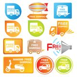 Free shipping label Royalty Free Stock Photography