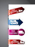 Free shipping label/stickers Royalty Free Stock Photos
