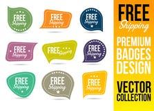 Free Shipping Logo Badge Emblem Stock Photography