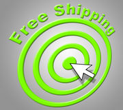 Free Shipping Means Without Charge And Delivering Stock Image