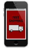 Free Shipping on Online Purchases Stock Image