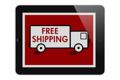 Free Shipping on Online Purchases Royalty Free Stock Images