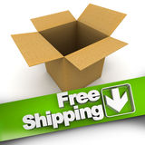 Free shipping, open box Royalty Free Stock Photo