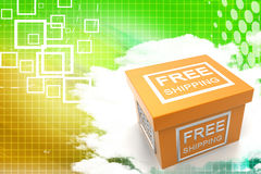 Free shipping parcel  Royalty Free Stock Image