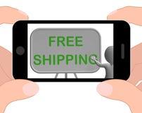 Free Shipping Phone Shows Item Shipped At No Cost Royalty Free Stock Photos