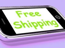 Free Shipping On Phone Shows No Charge Or Gratis Deliver Stock Photos
