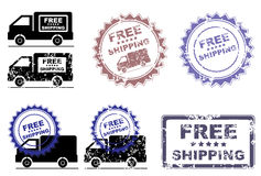 Free Shipping Retail Promotion Stamp Stock Photos