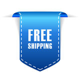 Free shipping. Ribbon over white vector illustration