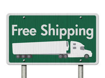 Free Shipping Road Sign Royalty Free Stock Images