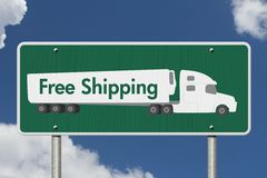 Free Shipping Road Sign Royalty Free Stock Photo