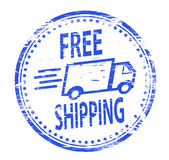Free Shipping Rubber Stamp. Rubber Stamp illustration showing free shipping text Stock Photos