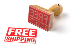 Free shipping. A rubber stamp on a white background - Free shipping royalty free stock photo