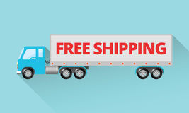 Free Shipping - Semi Truck Royalty Free Stock Photos