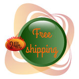 Free Shipping set. Courier delivery Stock Photography
