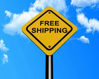 Free shipping sign Stock Photo