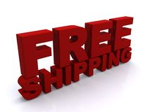 Free shipping sign Stock Images