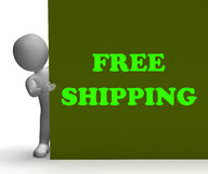 Free Shipping Sign Means Shipping Charges Stock Photography