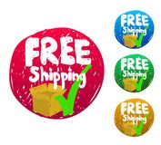 Free Shipping sketch icon Royalty Free Stock Photo