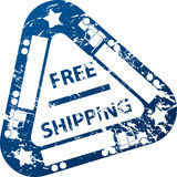 Free shipping stamp Stock Image