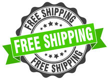 Free shipping stamp. sign. seal. Free shipping green stamp. sign. seal Royalty Free Stock Photo