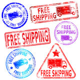 Free Shipping Stamps Royalty Free Stock Image
