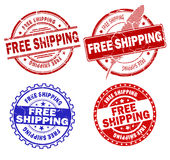 Free shipping stamps Royalty Free Stock Images