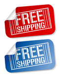 Free shipping stickers. Royalty Free Stock Photo