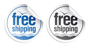 Free shipping stickers. Royalty Free Stock Photos