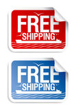 Free shipping stickers. Stock Images