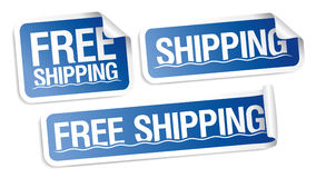 Free shipping stickers. Stock Photos