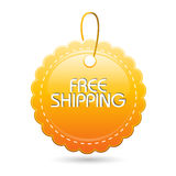 Free Shipping Tag Royalty Free Stock Image
