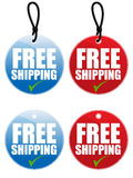 Free Shipping Tag EPS. Free Shipping tag illustration in two different colors and styles vector illustration