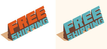 Free shipping text Stock Photography