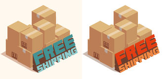 Free shipping text Royalty Free Stock Images